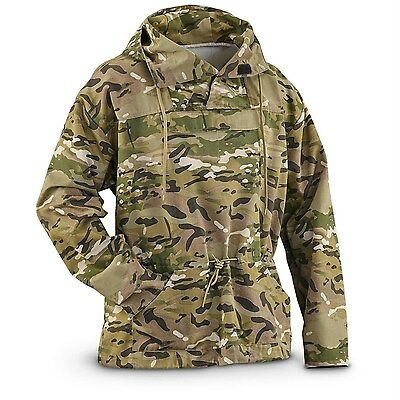Military Style Multi Camo Multicam Anorak Jacket Parka Pullover Hoodie XL XLARGE
