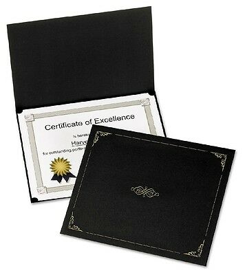 "Oxford Certificate Holder 12 1/2"" x 9 3/4"" Black 5 Pack - Brand New Item"