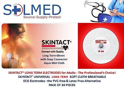 Skintact Ecg Cloth Electrodes Long Term Universal Snap Connector Pack Of 30