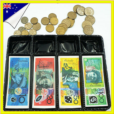 Childrens Kids Toy Fake Pretend Play Money Notes Australian Dollar Plastic Coin