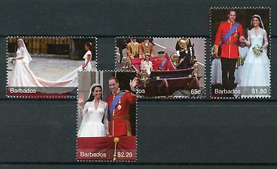 Barbados 2011 MNH Royal Wedding 4v Set Royalty Kate Middleton Prince William