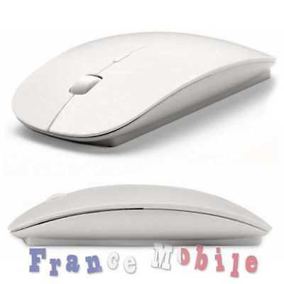 Souris Sans fil Optique Mouse wireless USB mini Mac Design ultrafine Flat Blanc