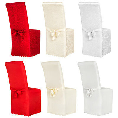 Chair cover wrap throw wedding banquet decoration sash with pattern bow