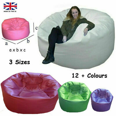 Jumbo Beanbag Bean Bag FAUX LEATHER Kids Adults Large Big Giant Lounger Huge UK