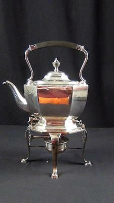 Vintage Finlay & Field Silverplate George Third Style Hot Water Kettle On Stand