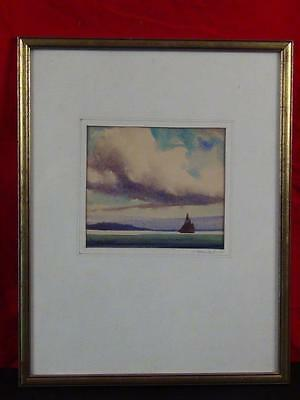 Original Coastal Watercolor Signed GORDON HOPE GRANT 1875-1962