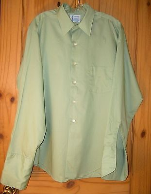 Penneys Towncraft Vintage Light Green Dress Shirt w/ French Cuffs, Mens S