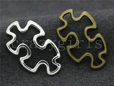 5/20/100pcs Tibetan Silver Exquisite Polygon Jewelry Charms Connectors 30x18mm