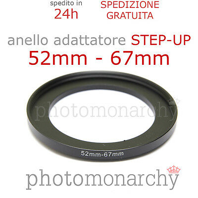 Anello STEP-UP adattatore da 52mm a 67mm filtro - STEP UP adapter ring 52 67 mm