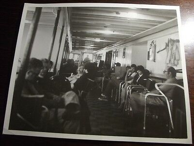 Vintage INTERIOR PHOTO ABOARD THE S. S. NOBSKA  - 8 X 10