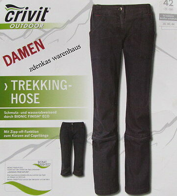 CRIVIT Outdoor Damen Trekkinghose- Walkinghose Qutdoorhose-Blau-Gr 38