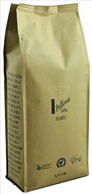 Vittoria Organic Coffee Beans Espresso Arabica 1Kg Medium Dark Roast -Cafe Blend