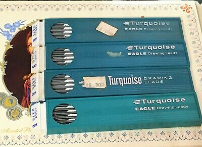 Vintage Berol Turquoise Eagle Drawing Drafting Lead 2mm 2375 B 2 DZ LOT nos
