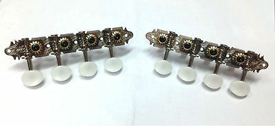 A style Mandolin silver-plated tuners with white color button 346C