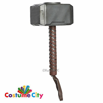 Official Childs Marvel Avengers Thor Hammer Fancy Dress Costume Accessory