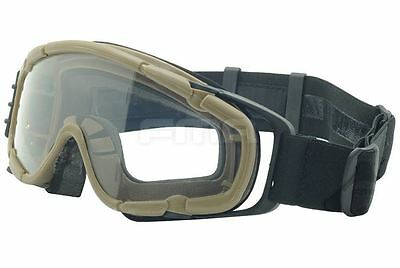 Airsoft Paintball Ops Core Jump Fan Anti Fog Clear Si Goggles Glasses Tan Sand