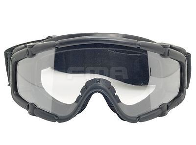 Airsoft Paintball Ops Core Jump Tactical Clear Si Goggles Glasses Black Swat