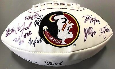 2013 Florida State Seminoles Team Signed Football Rashad Greene