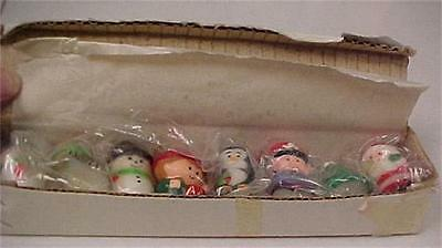 Christmas Vintage Box of 8 Assorted Mini Candles(Orig.Box)  -12575C