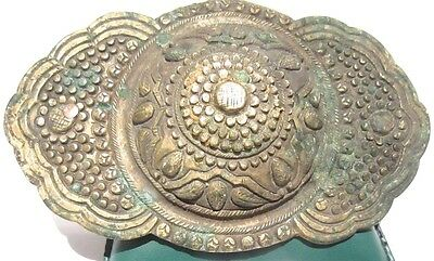 BEAUTIFUL ANTIQUE 1800's. SILVER BUCKLE WITH TOP DECORATION # 846 • CAD $157.29