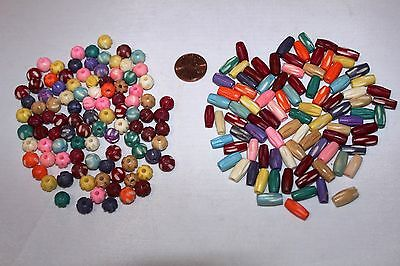 Hand Crafted & Carved - 8mm & 0.5 Inch Multi Color Bone Beads * 100 Beads/Pack *