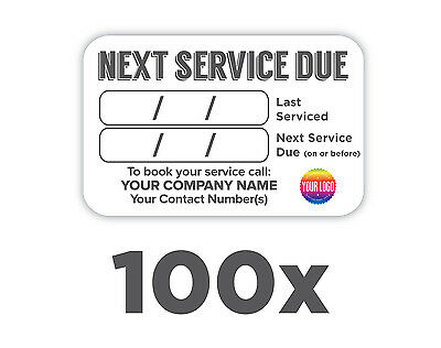 100x Plumbers Boiler/Appliance Service Labels 100% WATERPROOF *FREE DELIVERY*