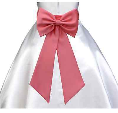 Tiebow Sash + Flower Only For Girl Dress Holiday Occasion Decoration Pageant New