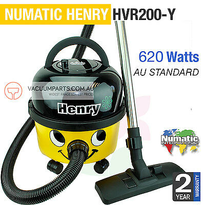 NUMATIC Henry Dry Canister Vacuum Cleaner HVR200 YELLOW + 2 YR WARRANTY 620W 9L