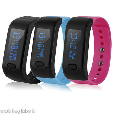 Smart Bracelet Bluetooth Waterproof Pedometer Calorie Health Fitness Tracker HOT