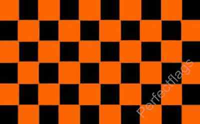 BLACK /& AND GOLD CHECKERED FLAG 5X3 CHEQUERED SPORT