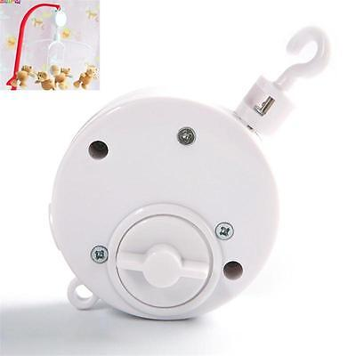 Cute Baby Mobile Crib Bed Bell Toy Wind-Up Movement Music Box Machine White - CB