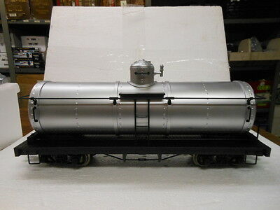 Bachmann G Scale Tank Car with Metal Wheels-Unlettered-Silver 93473