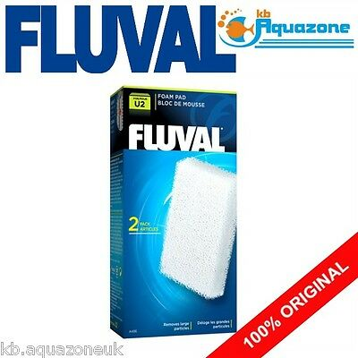 Fluval * U2 Foam Pad * Underwater Filter Replacement Original