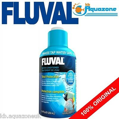 FLUVAL * WATER CONDITIONER 120ml * Aqua Plus Chlorine * ENHANCER