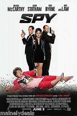 Spy 2015 Melissa Mccarthy Jude Law Double Sided Movie Poster 27x40