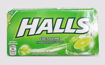 HALLS Fruit Apple Twist Flavored Center-Filled Candy Sweet Fruity 8 Pieces 22.4g