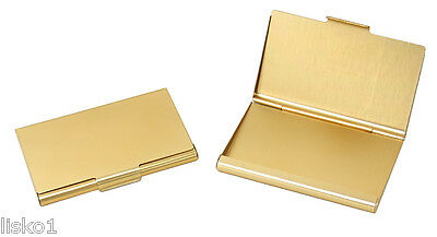 TZ Case Business card Holder All metal Pocket size Gold ANC002G
