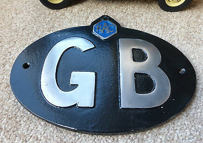 Goodwood Revival Classic Vintage Car RAC GB Great Britain Touring Badge Sign