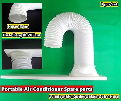 Portable A/C Spare Part Outlet Oblate Gob+Window Kit+Hose 2m - 3pc/Set (13)