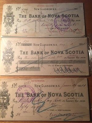 Bank of Nova Scotia Notes Turn of Century - Private Collection