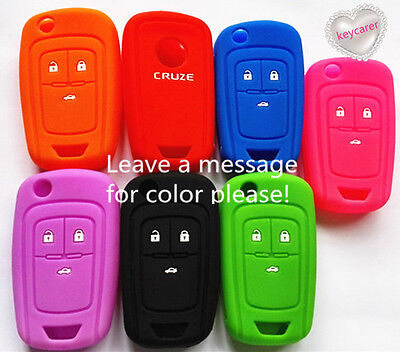 Silicone Holden Car Flip Key Cover Case For Chevrolet Colorado Aveo Cruze