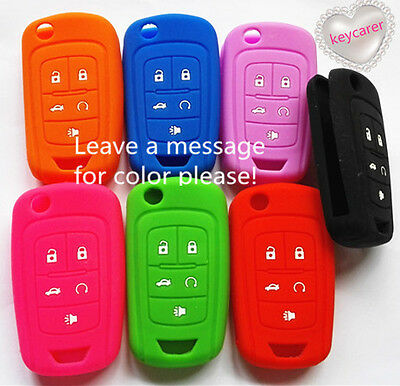 Silicone Chevrolet 5 Buttons Flip Key Cover For Holden Vf Commodore