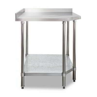 Stainless Steel Corner Bench With Splash back Commercial Kitchen Equipment