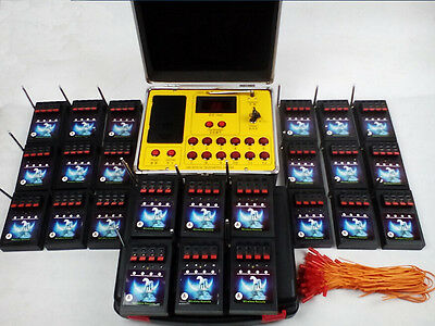 96 Cue Fireworks Firing system Electric Wire Frequency conver Mini launch remote