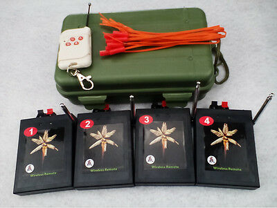 4CH fireworks firing system Wireless remote electric igniter Combined universal