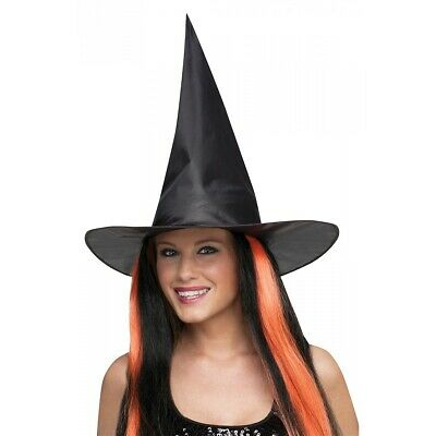 Black Witch Hat Adult Womens Halloween Costume Fancy Dress
