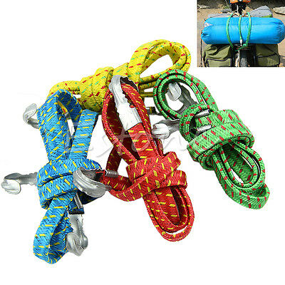 1PC 120cm Bicycle Luggage Rope Banding Bungee Elastic Rope Strap Tie Fixed Band