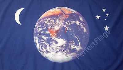 PLANET MOON AND STARS FLAG - 5x3 Feet - EARTH SPACE VIEW BANNER