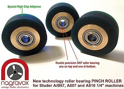 Studer A67 B67 A807 A810 SPECIAL NEW  DELUXE roller bearing PINCH ROLLER kit