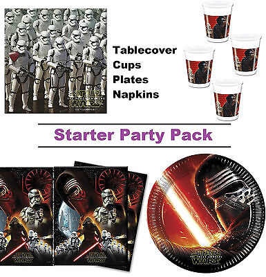 Star Wars Force Awakens 8-48 Guest Starter Party Pack - Cups | Plates | Napkins
